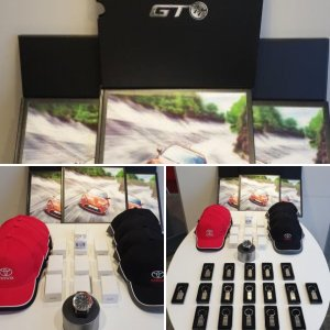 Toyota merchandise - GT86 Meet and greet prizes!